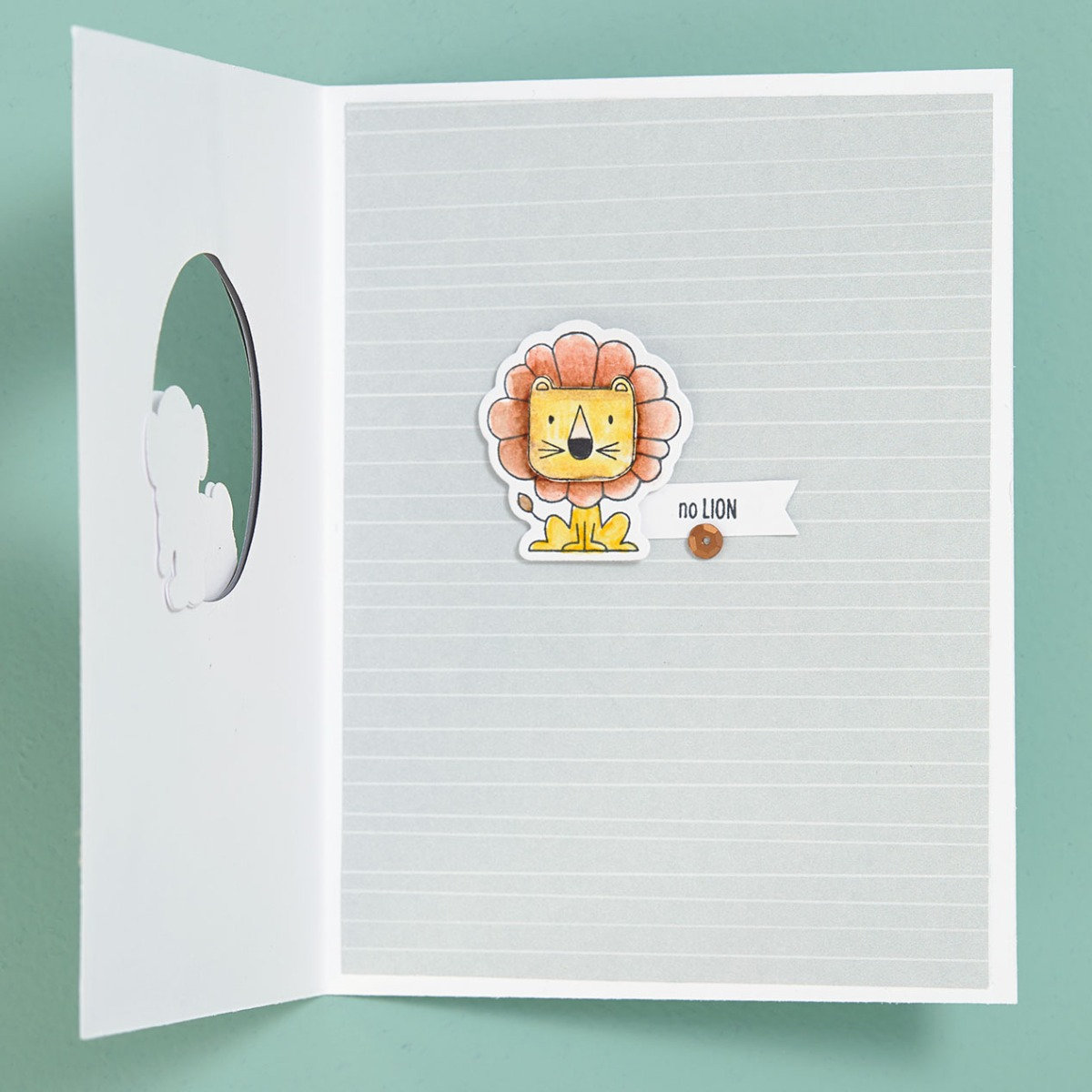 Thin Cuts Technique #ctmh #closetomyheart #thincuts #dies #diecuts #cardmaking #diy #wildaboutyou #animals #zooanimals #lion #monkey #tiger