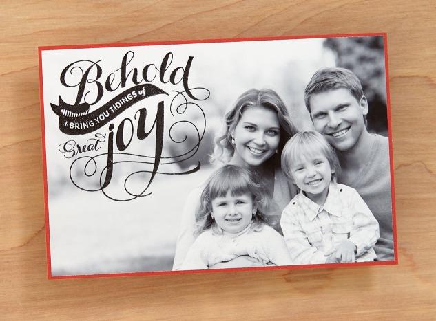 DIY Photo Cards #ctmh #closetomyheart #diy #photo #cards #holidays #Christmas #tidings #Joy #family