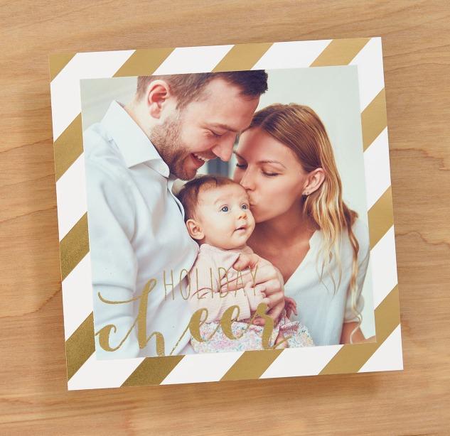 DIY Photo Cards #ctmh #closetomyheart #diy #photo #card #holiday #Christmas #cheer #gold