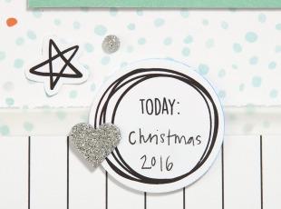 Pastel Christmas Trend #ctmh #closetomyheart #pastel #Christmas #trend #bashful #silver #glitter #pink #lightblue #juniper #December #scrapbooking