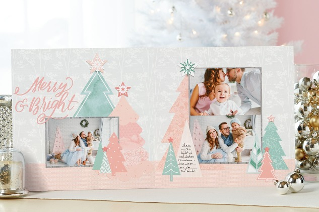 Pastel Christmas #ctmh #closetomyheart #cutabove #noelle #pink #pastel #Christmas #scrapbooking #layout