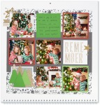 Through the Year #ctmh #closetomyheart #throughtheyear #calendar #kit #scrapbooking #scrapbook #memorykeeping #keepsake #gift #diy #family #Chrismas #present #photos #gold #glitter #diecut #gems #stars #remember #Christmas #holiday #season #tree