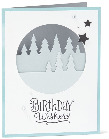 holiday favorites #ctmh #closetomyheart #birthday #card #diy #thincuts #diecuts #die #wishes #trees #pine #treeline #border