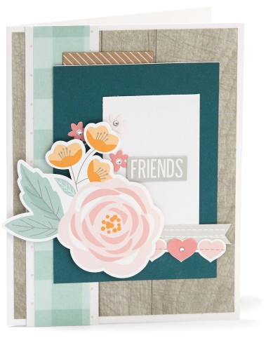 complement day #ctmh #closetomyheart #diy #card #cardmaking #friends #gimmesomesugar #gimme #some #sugar #kitchen #pink #flowers #floral #rustic #hearts #embellishment #embellish #complement #compliment #stickers #accessories #accessory #bashful #peacock #woodgrain #wood