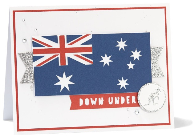 Australia Day Giveaway #ctmh #closetomyheart #Australia #aussie #down #under #flag #card #giveaway