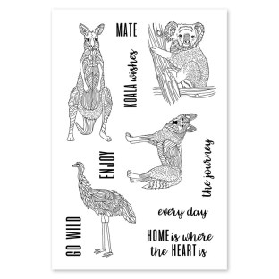Australia Day Giveaway #ctmh #closetomyheart #australia #day #giveaway #aussie #greetings #mate #koala #ostrich #home #journey #stamp #set #myacrylix