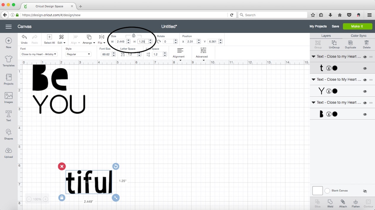 Working with Fonts in Cricut Design Space™ | Make It from Your Heart