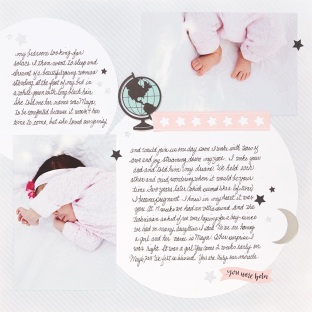 Handwriting in Memory Keeping #ctmh #closetomyheart #memory #keeping #journal #journalling #journaling #scrapbooking #cardmaking #diy #handwriting #writing #write #memories #personal #identity #unique #baby #girl #pink #newborn #thestorybegins #book #cutabove