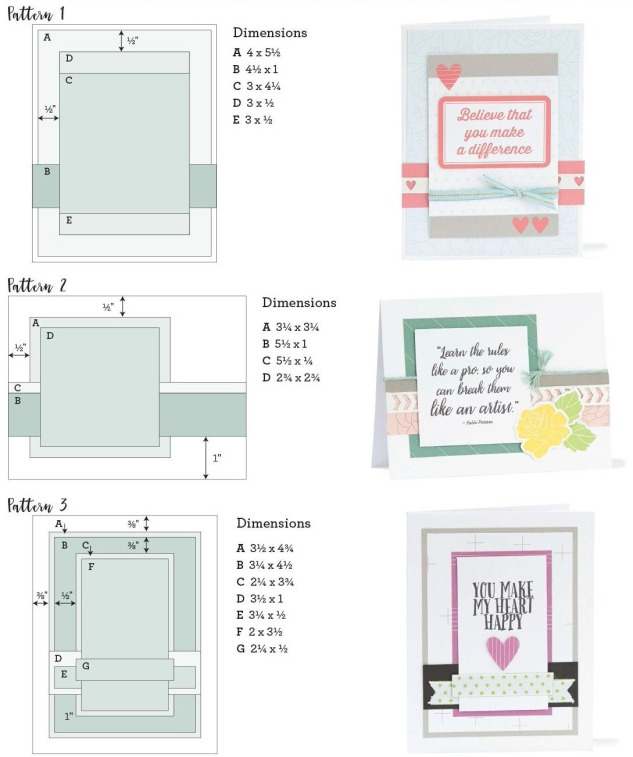 Free Card Patterns #ctmh #closetomyheart #whimsy #fundamental #cardmaking #card #diy #pattern #free #white #pines