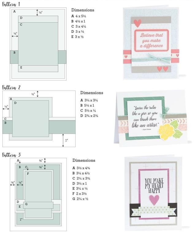 Free Card Patterns #ctmh #closetomyheart #whimsy #fundamental #cardmaking #card #diy #pattern #free #white #pines