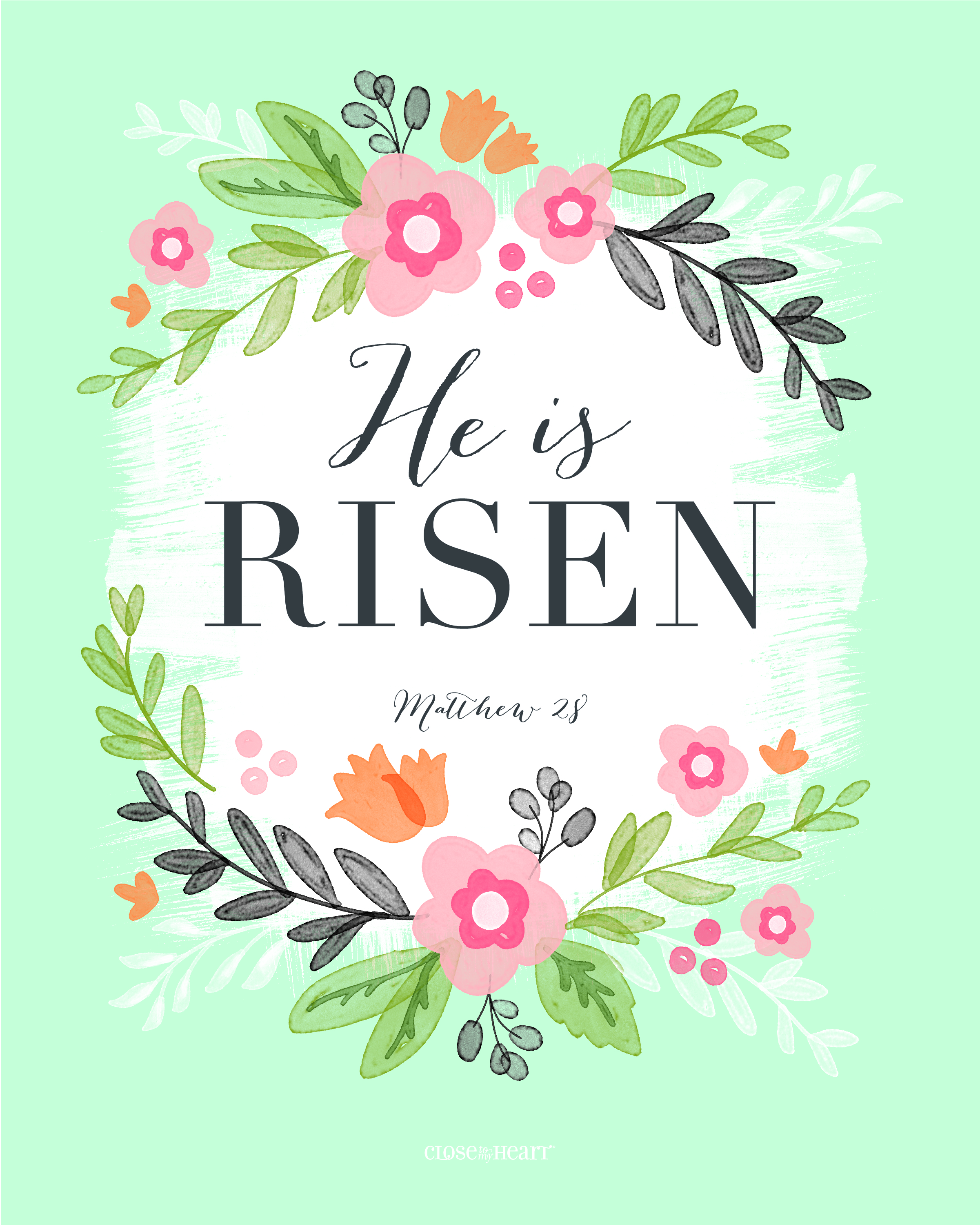 image regarding He is Risen Printable titled easter-printable-risen Generate It towards Your Centre
