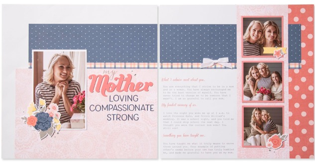 A Mother's Day Freebie #ctmh #closetomyheart #ctmhbeautifulfriendship #beautiful #friendship #mother #Mother'sDay #mom #loving #compassionate #strong #admire #fondest #memory #taughtme #scrapbooking #layout #nationalscrapbookingmonth #May #free #freebie #pattern #cuttingdiagrams