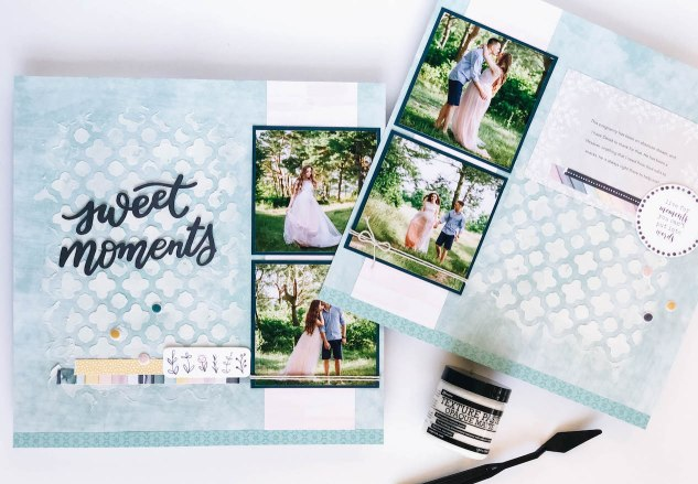 Deluxe Scrapbooking Workshop #CTMH #CloseToMyHeart #WorkshopsYourWay® #scrapbooking #scrapbook #deluxe #elevatedscrapbooking #texturepaste #mixedmedia #sweetmoments #CTMHBoutique