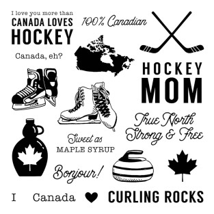 True North Stamp Set #ctmh #closetomyheart #TrueNorth #hockey #icehockey #curling #Canada #Canadian #celebrateCanada #maplesyrup #figureskating #iceskating