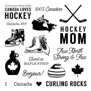True North Stamp Set #ctmh #closetomyheart #TrueNorth #hockey #icehockey #curling #Canada #Canadian #celebrateCanada #maplesyrup #figureskating #iceskating