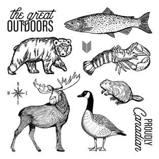 The Great Outdoors #ctmh #closetomyheart #thegreatoutdoors #scrapbooking #cardmaking #wildanimals #wild #wilderness #moose #fish #bear #duck #beaver #crawfish #crawdad #proudlyCanadian