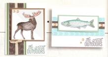 The Great Outdoors #ctmh #closetomyheart #thegreatoutdoors #scrapbooking #cardmaking #wildanimals #wild #wilderness #moose #fish #bear #duck