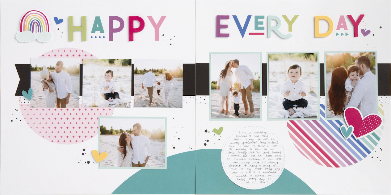 FAST, SIMPLE, EASY scrapbooking with Craft with Heart...