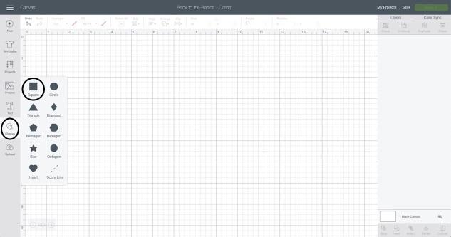 Basic Shapes Screenshot