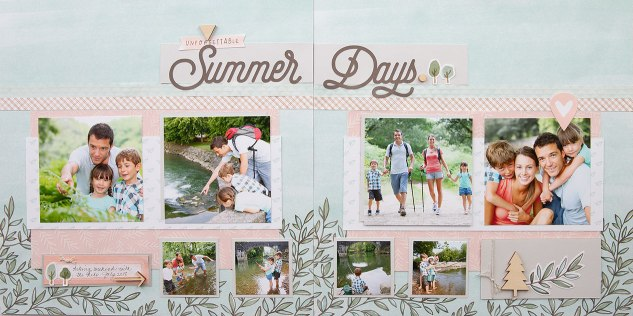 Scrapbook Patterns #ctmh #closetomyheart #scrapbooking #album #pattern #theworldisyours #summerdays