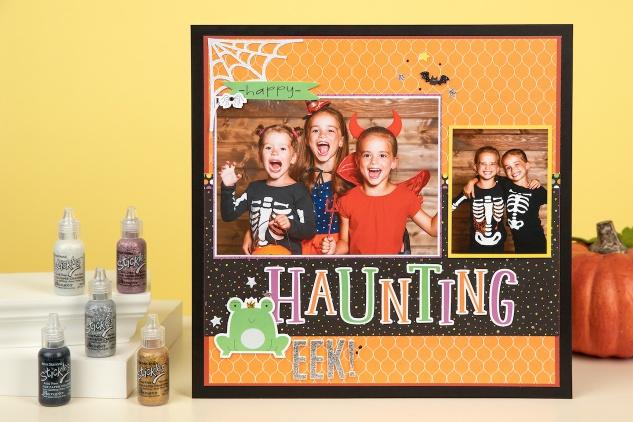 Stickles Glitter Gel #ctmh #closetomyheart #stickles #glittergel #spooktacular #halloween #scrapbooking #cardmaking #papercrafting