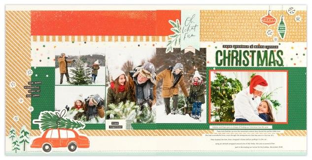 Free Holiday Scrapbook Pattern #ctmh #closetomyheart #ctmhhawthorn #ctmhcedarandpine #thanksgiving #christmas #holidayscrapbooking #scrapbooking #freepattern #freescrapbookpattern #makeitfromyourheart